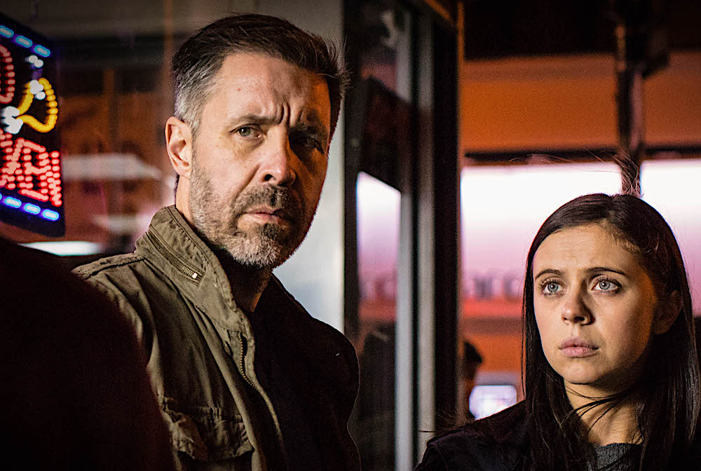 Paddy Considine and Bel Powley in Informer