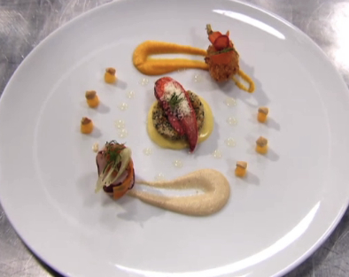 Masterchef winner Ash Mair lobster salad