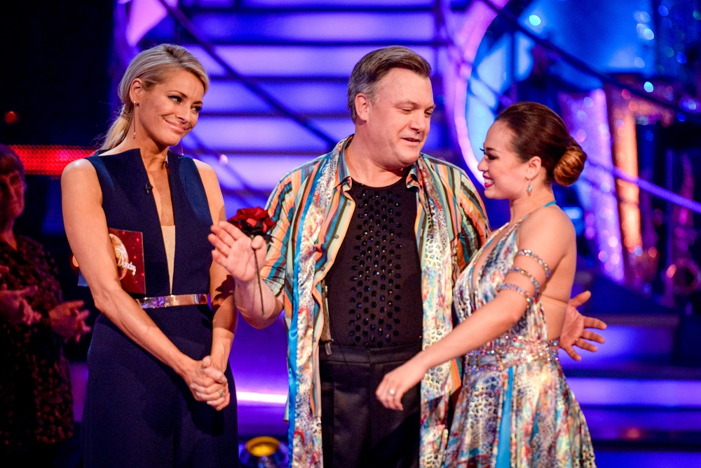 Tess Daly, Ed Balls and Katya Jones leave Strictly Come Dancing
