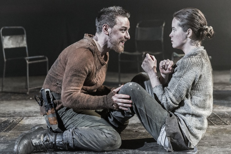 Claire Foy and James McAvoy in Macbeth at Trafalgar Studios