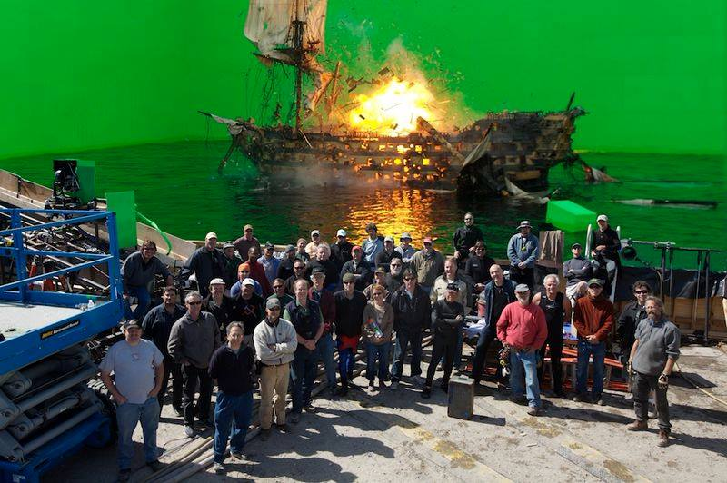 Pirates of the Caribbean's omnipresent green screen