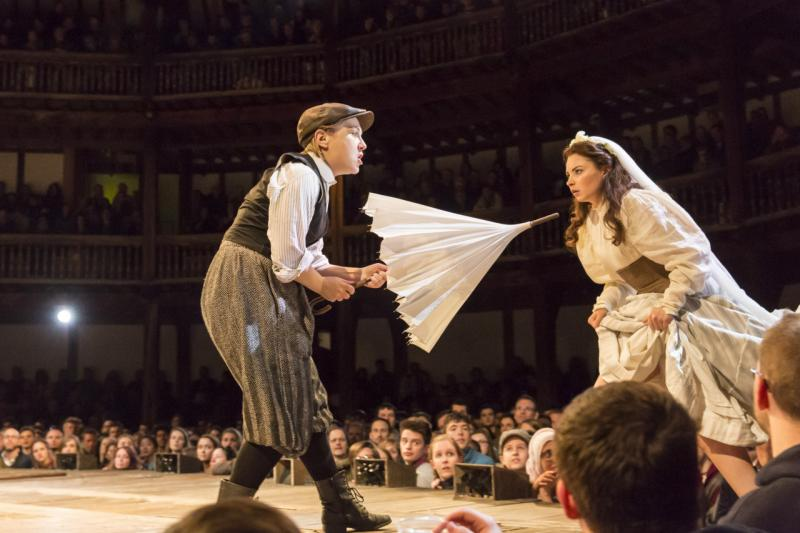 shakespeare s the taming of the shrew Stone soup shakespeare heads west to explore one of shakespeare's favorite problem plays the taming of the shrewthis comedy finds the minola sisters, katherina and bianca, linked as the younger cannot marry until the older one has.